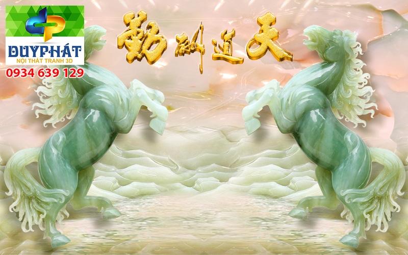 Tranh mã đáo thành công TMĐTC204 của tranh 3D Duy Phát