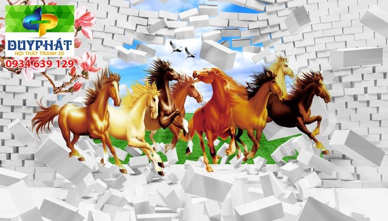 Tranh mã đáo thành công TMĐTC266 của tranh 3D Duy Phát