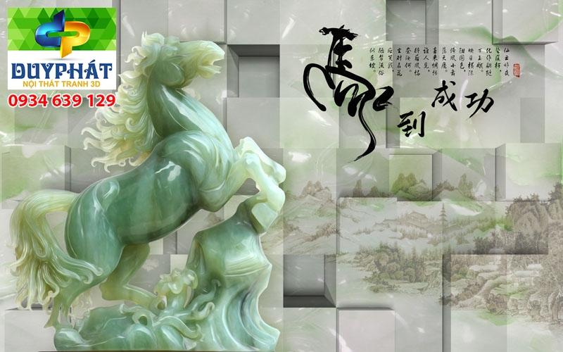 Tranh mã đáo thành công TMĐTC295 của tranh 3D Duy Phát