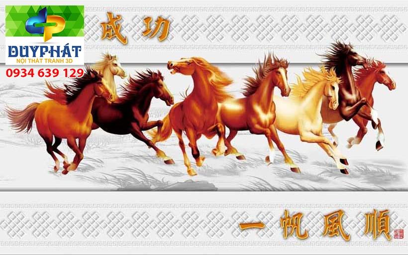 Tranh mã đáo thành công TMĐTC385 của tranh 3D Duy Phát