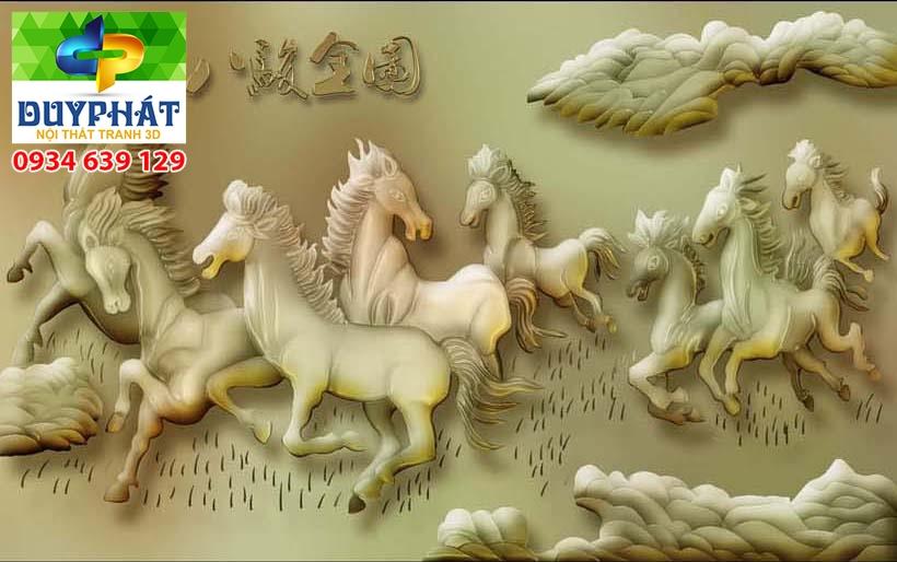 Tranh mã đáo thành công TMĐTC388 của tranh 3D Duy Phát
