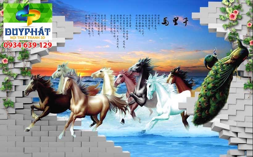 Tranh mã đáo thành công TMĐTC399 của tranh 3D Duy Phát