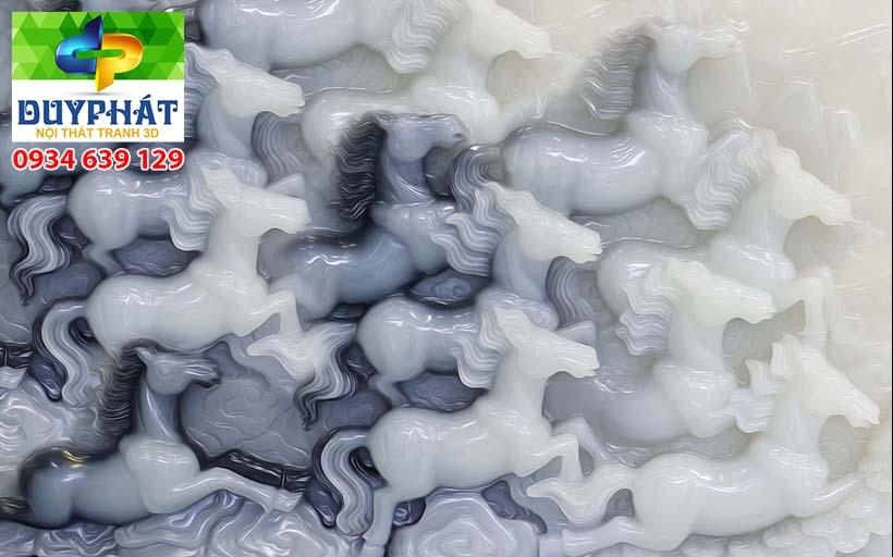 Tranh mã đáo thành công TMĐTC413 của tranh 3D Duy Phát