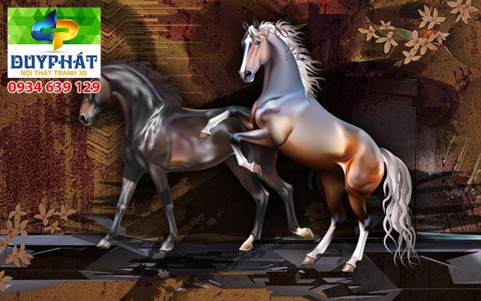 Tranh mã đáo thành công TMĐTC441 của tranh 3D Duy Phát