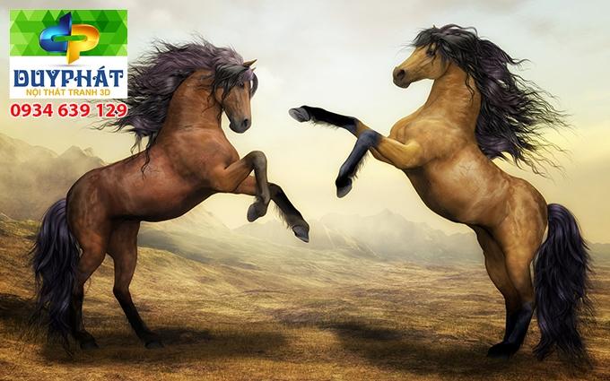Tranh mã đáo thành công TMĐTC489 của tranh 3D Duy Phát