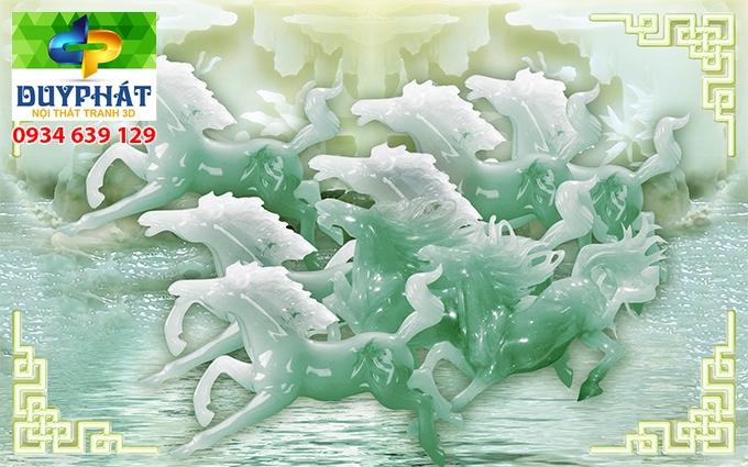 Tranh mã đáo thành công TMĐTC494 của tranh 3D Duy Phát