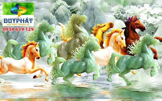 Tranh mã đáo thành công TMĐTC495 của tranh 3D Duy Phát