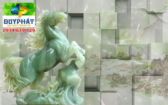 Tranh mã đáo thành công TMĐTC516 của tranh 3D Duy Phát
