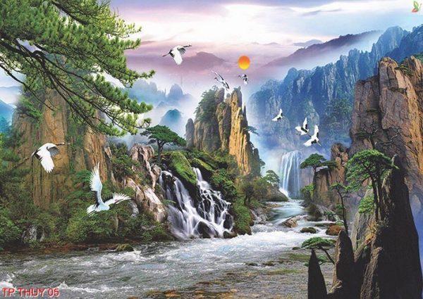 tranh phong cảnh 3d 2 e1554523474522 - Không gian thật lộng lẫy và hút hồn với kiệt tác tranh 3d đẹp mắt