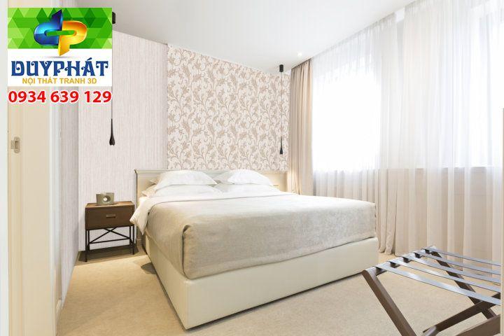 giay dan tuong - Cách chọn giấy dán tường cho phòng ngủ vợ chồng thêm lãng mạng