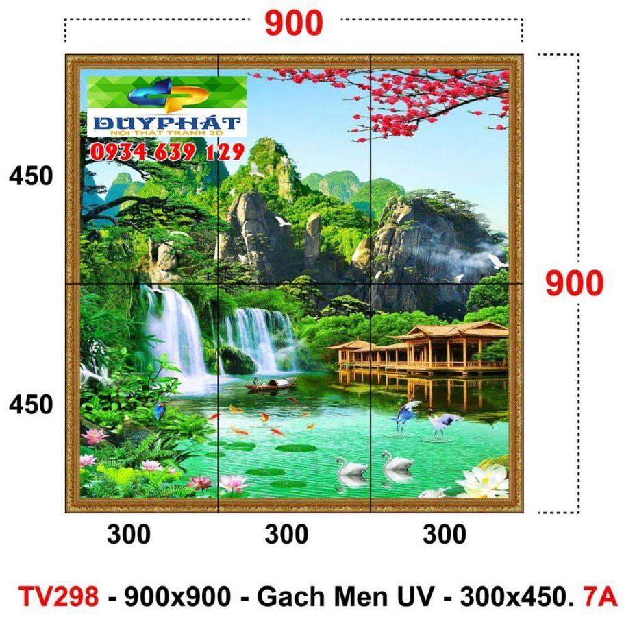 """tranh kinh 4 911x900 - Những mẫu tranh kính 3D """"đẹp không tưởng"""" cho phòng khách sang trọng"""