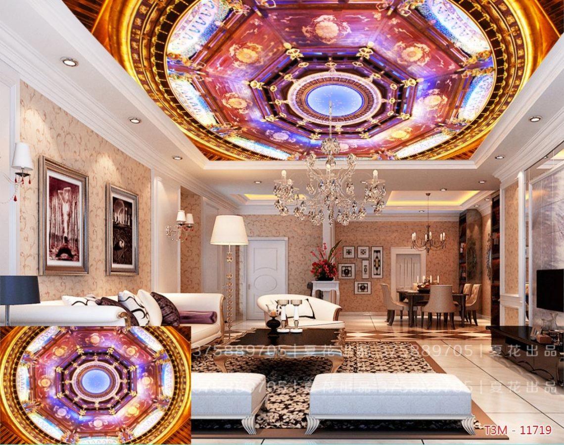tranh 3d dán trần nhà